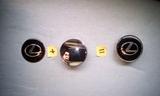 Tapabuje rueda Lexus negro plata 68mm - foto