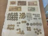 Monedas y billetes antiguos - foto