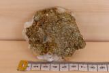 Minerales pirita con cuarzo - foto