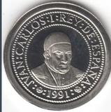 100 PESETAS PLATA 1991 PROOF.