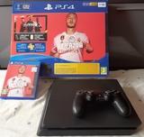 Playstation 4 ( ps4 ) slim 1tb + fifa20 - foto