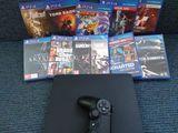 PS4 Slim 1 Tb + 11 juegos - foto