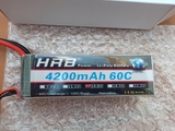 lipo HRB 14,8V 4200mah 60C NUEVA - foto
