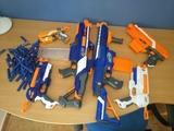 Pack de 6 armas nerf + 80 balas nerf - foto