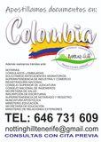 Documentos de Colombia, apostillas - foto