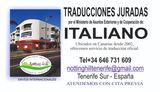 Traductor jurado de italiano. Tenerife S - foto