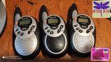 Lote de 3 walkie talkie grises - foto