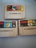 Tres juegos de Super Nintendo - foto