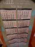 calendario en tela. - foto