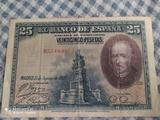 billete 25 pesetas - foto