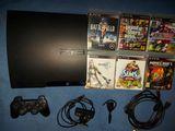 PlayStation 3, cámara y 6 juegos - foto