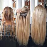 Colocación Extensiones de cabello natura - foto