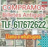 Coleccionista compra billetes antiguos. - foto