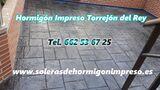 Hormigón Impreso Torrejón del Rey - foto