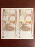 billetes auténticos de euros sin recorta - foto