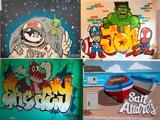 decoración mural graffiti bilbao - foto
