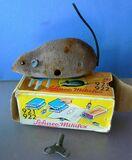 Antiguo ratón de hojalata  Schuco - foto
