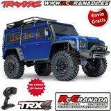Traxxas trx-4 1/10 crawler defender azul - foto