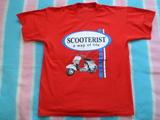 Camiseta moto scooterist - foto
