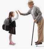 acompañante de personas mayores y niños - foto