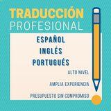 Traducciones: inglÉs-espaÑol-portuguÉs - foto