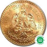 Moneda  Oro 50 pesos Mexicanos inversión - foto
