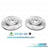 J0l kit de 2 discos de freno perforados  - foto