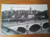 Antigua postal de Francia de la ciudad d - foto