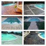 piscinas|hormigón impreso arenas - foto