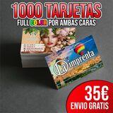 1000 tarjetas doble cara - foto