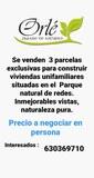 SE VENDEN 3 PARCELAS EXCLUSIVAS - foto