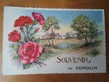Rara y extraña postal de Verdun, Francia - foto
