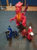 dragón caballeros y caballos imaginext - foto