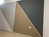 Decorado pintado de paredes - foto