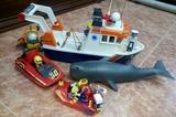 Playmobil lote barco y ballena - foto