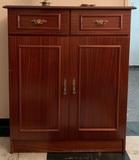 Mueble para vinilos y CD de madera - foto