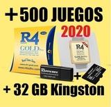 Tarjeta R4 +500 Juegos/32GB Kingston.- - foto