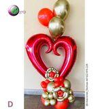 Bouquet de chocolates y flores - foto
