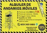 Alquiler de Andamios moviles - foto