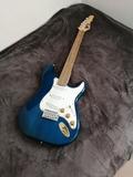 guitarra eléctrica visión azul - foto