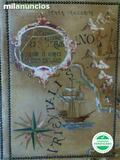 Antiguo mapa mundi biombo - foto