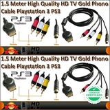 Playstation 3 cable de video av 3rca hd - foto