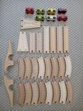 Tren y via de madera de Ikea para montar - foto