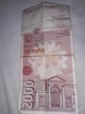 billete de 2000 pesetas - foto