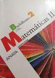 MATEMATICAS II DE ANAYA 2º DE BACHILLER - foto