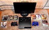 PS3 slim 300GB, mandos,televisor,juegos - foto