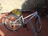 Bicicleta Rockrider blanca y rosa - foto