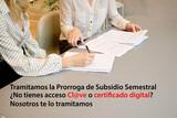 Solicitud prórroga subsidio semestral - foto