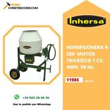 HORMIGONERA R-250 MOTOR MONOFÁSICO 1 CV.  - foto
