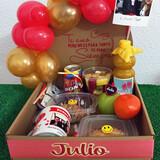 Cesta regalos desayunos globos - foto